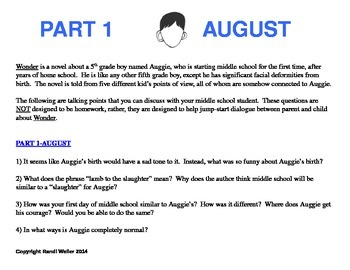Wonder-by RJ Palacio-Parent/Child Discussion Guide-Part 1