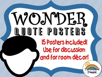 Wonder by Palacio Novel Book Quote Posters