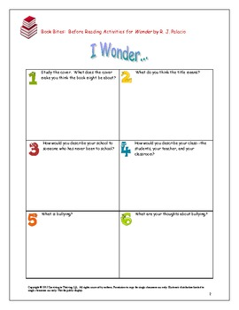 Wonder Novel Study Mini-Unit