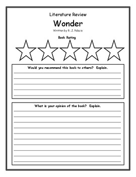Wonder by R.J. Palacio Book Review Comprehension Rating Opinion
