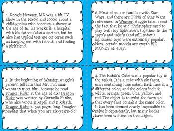 Wonder by R.J. Palacio - CCSS Aligned Task Cards