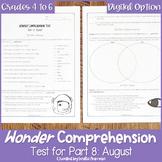 Wonder Comprehension Test for Part 8 August