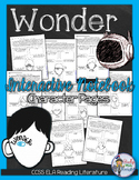 WONDER by R.J. PALACIO CHARACTERS AND CHARACTERIZATION ACTIVITY