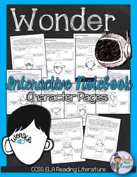 WONDER by R.J. PALACIO CHARACTERS AND CHARACTERIZATION ACTIVITY