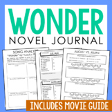 WONDER by R.J Palacio Novel Study Unit Activities, In 2 Formats