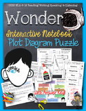 WONDER, by R.J. PALACIO PLOT DIAGRAM, STORY MAP, PLOT PYRAMID, PLOT CHART PUZZLE
