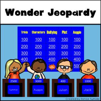 Wonder by R.J. Palacio Jeopardy