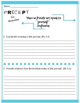 Wonder by R.J. Palacio Mr. Browne's Precepts