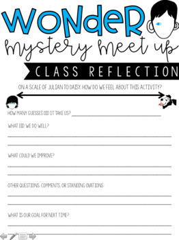 Wonder by R.J. Palacio - Mystery Meet Up (Skype, FaceTime, Google Hangout)