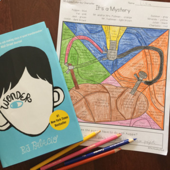 Wonder by R.J.Palacio Mystery Pictures - Color by Character