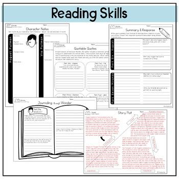 Wonder by R.J. Palacio Novel Study