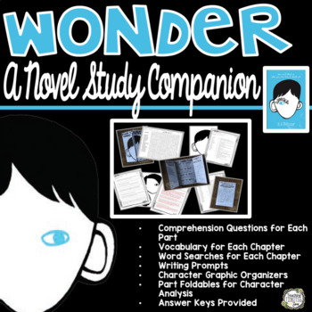 Wonder by R.J. Palacio a Novel Study Unit