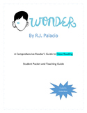 Wonder by R.J. Palacio Parts 1 - 4: A Comprehensive Guide to Close Reading