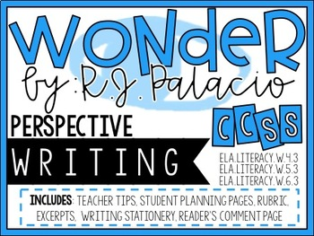 Wonder by R.J. Palacio - Perspective Writing Project