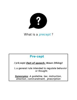 Wonder by R.J. Palacio - Precept lesson and activity