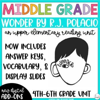 Wonder by R.J. Palacio Reading Unit {4th, 5th, and 6th Grade CCSS Aligned)