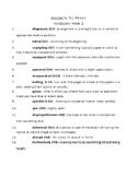Wonder by R.J. Palacio Vocabulary Week 2