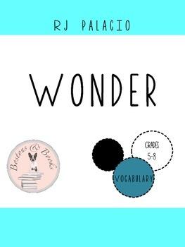 Wonder by R.J. Palacio Vocabulary and Quiz