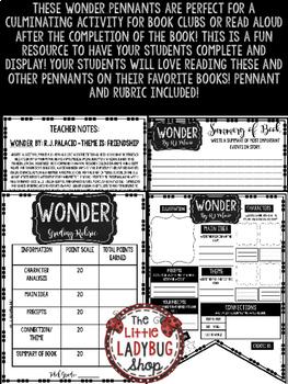 Wonder Novel Study by: R.J. Palacio • Book Review Template Wonder Novel Study