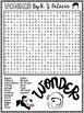Wonder by R.J. Palacio Word Search Activity