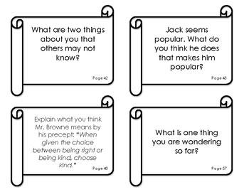 Wonder by RJ Palacio - English Reading/Writing Prompts
