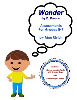 Wonder by RJ Palacio Assessment Pack