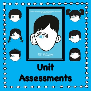 Wonder by R.J. Palacio:                  Unit Tests/Quizzes