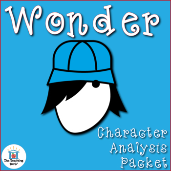 Wonder Character Analysis Activity Packet