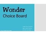 Wonder by RJ Palacio Choice Board Tic Tac Toe Novel Activi