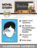 Wonder by R.J. Palacio {Comprehension, Art, Writing, Vocabulary, & Bully Bingo}