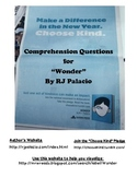 """""""Wonder"""" by R.J. Palacio Comprehension Questions on Pages 3 to 23"""