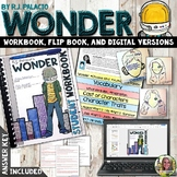 WONDER NOVEL STUDY WORKBOOK, FLIP BOOK, AND FOR GOOGLE DRI