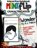 WONDER, BY R.J. PALACIO INTERACTIVE NOTEBOOK CHARACTER MINI FLIP