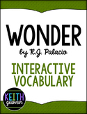 Wonder by R.J. Palacio:  Interactive Notebook Vocabulary Activities