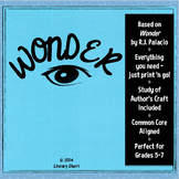 WONDER by R.J. Palacio: Novel Study, Student Packet, Novel
