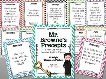 Wonder by R.J. Palacio: Mr. Browne's Precepts Posters