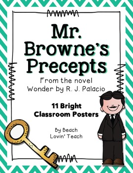 Wonder by R.J. Palacio: Mr. Browne's Precepts Posters