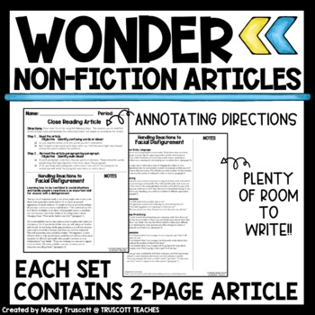 Wonder by R.J. Palacio: Nonfiction Articles to Supplement the Novel