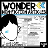 Wonder by R.J. Palacio: Nonfiction Articles to Supplement