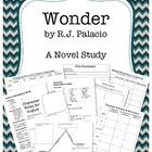 Wonder by  R.J. Palacio Novel Study Unit