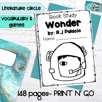 Wonder by RJ Palacio PRINT N GO Novel Study