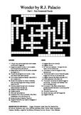 Wonder by R.J. Palacio (Part 1) - Fun Crossword