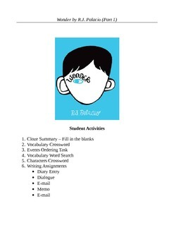Wonder by R.J. Palacio (Part 1) - Ten Active Learning Activities