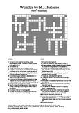 Wonder by R.J. Palacio (Part 3) - Vocabulary Crossword
