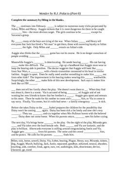 Wonder by R.J. Palacio (Part 6) - Active Learning Tasks