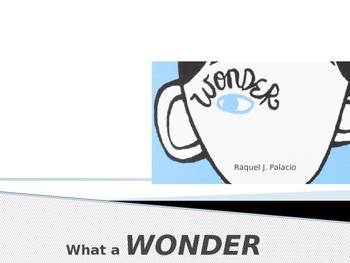 Wonder by RJ Palacio PowerPoint
