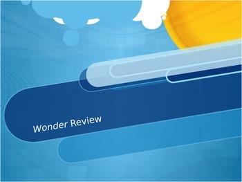 Wonder by R.J. Palacio Review PPT