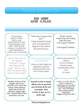 Wonder by R.J.Palacio Guided Reading Activities US Version