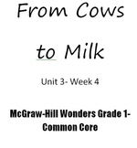 Reading Wonders First Grade From to Cows to You- common core
