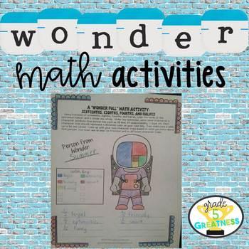 Wonder Math Activity for Novel